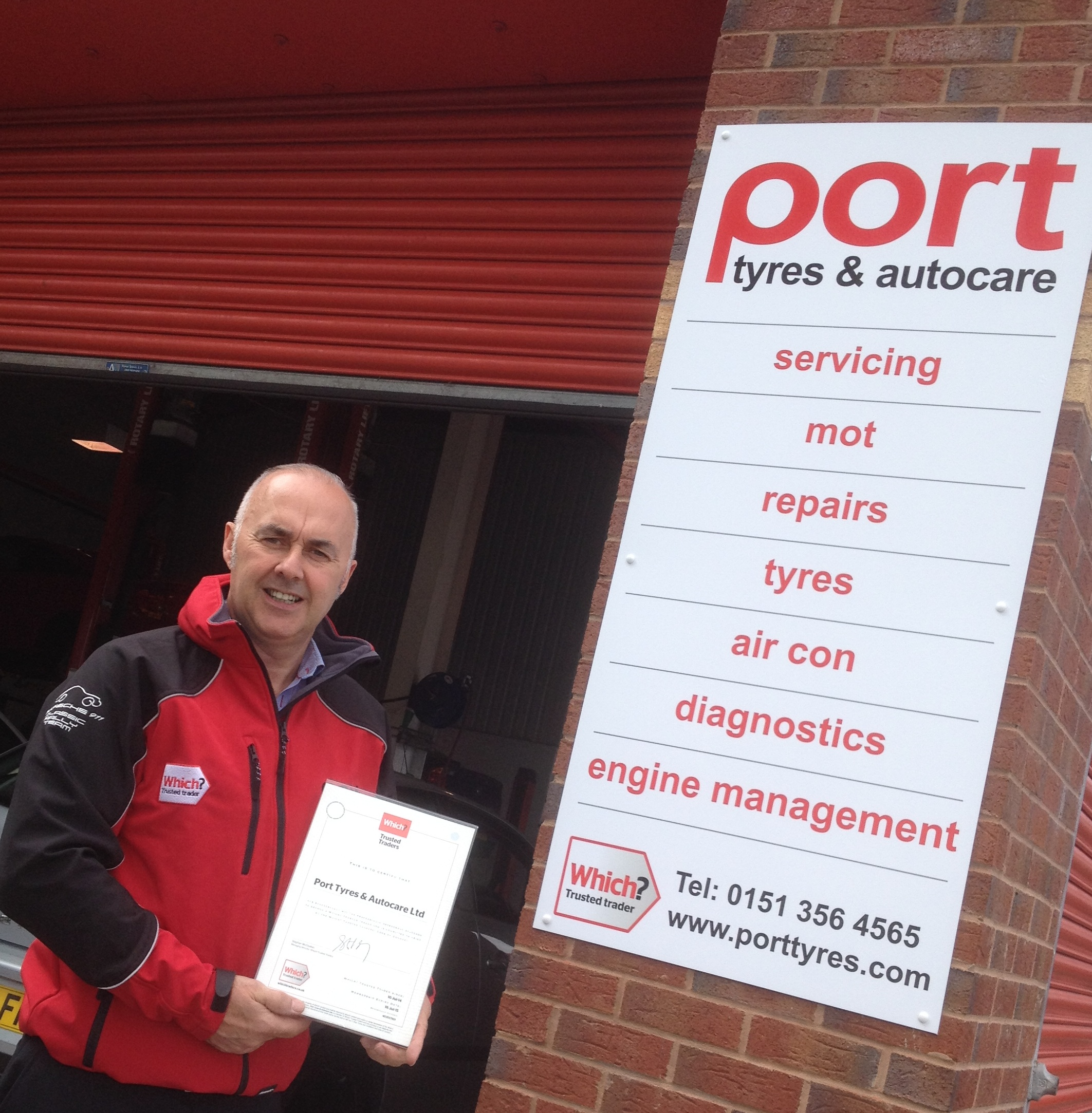 Which? Trusted Trader Endorsement for Port Tyres & Autocare
